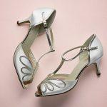 Peep Toe Satin Shoe, vintage styling, 6.25cm heel