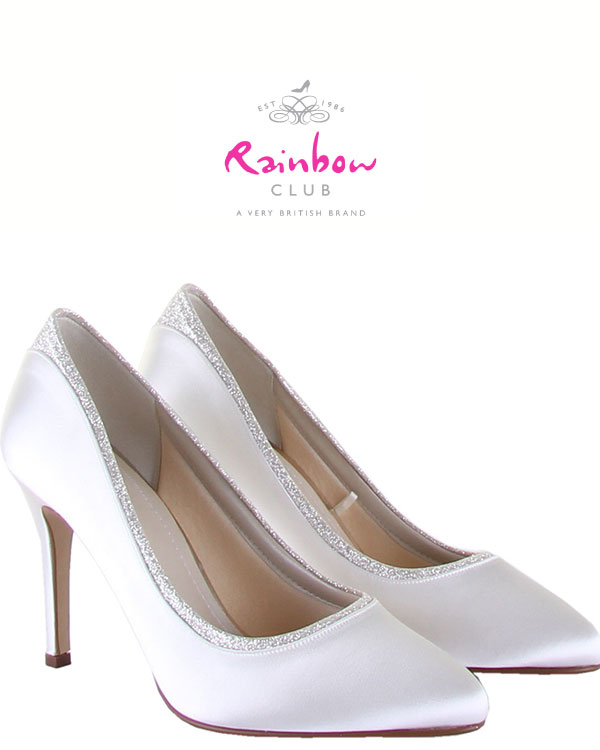 Satin Bride's Shoes from Rainbow Club