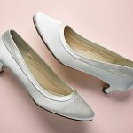 Satin Court Shoe, round toe, 4.25cm heel