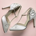 T-Bar Satin Court Shoe, retro styling, 9cm heel
