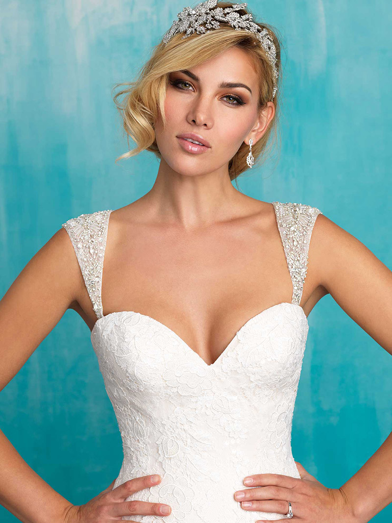 Allure cap sleeves | Brides with Curves | Wimborne | Poole | Bournemouth